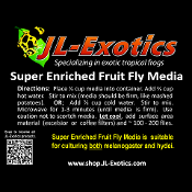 JL-Exotics Super Enriched Fruit Fly Media